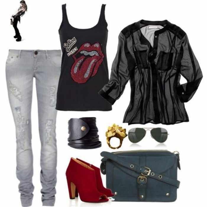 como conseguir un look punk rockera chica mujer