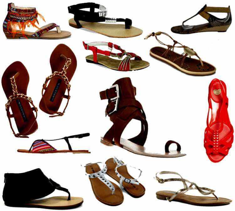 Modelo de sandalias