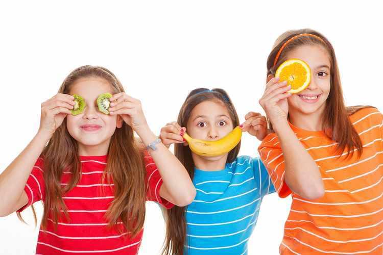 una buena alimentacion para niños